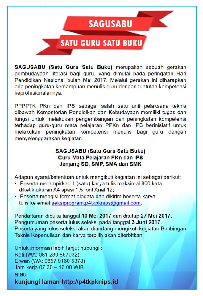 Diklat SAGUSABU P4TK PKN dan IPS Tahun 2017