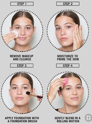 Langkah persiapan sebelum makeup. (Dok.Pinterest)
