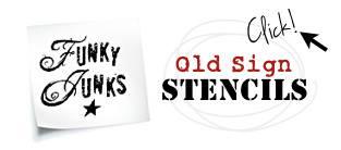 funky junk stencils logo