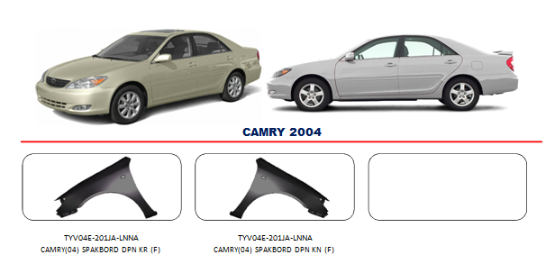 Bodypart Toyota Camry 2004