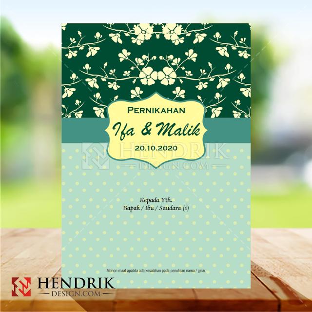 Contoh Undangan Pernikahan Vintage Softcover (HCGD-39)
