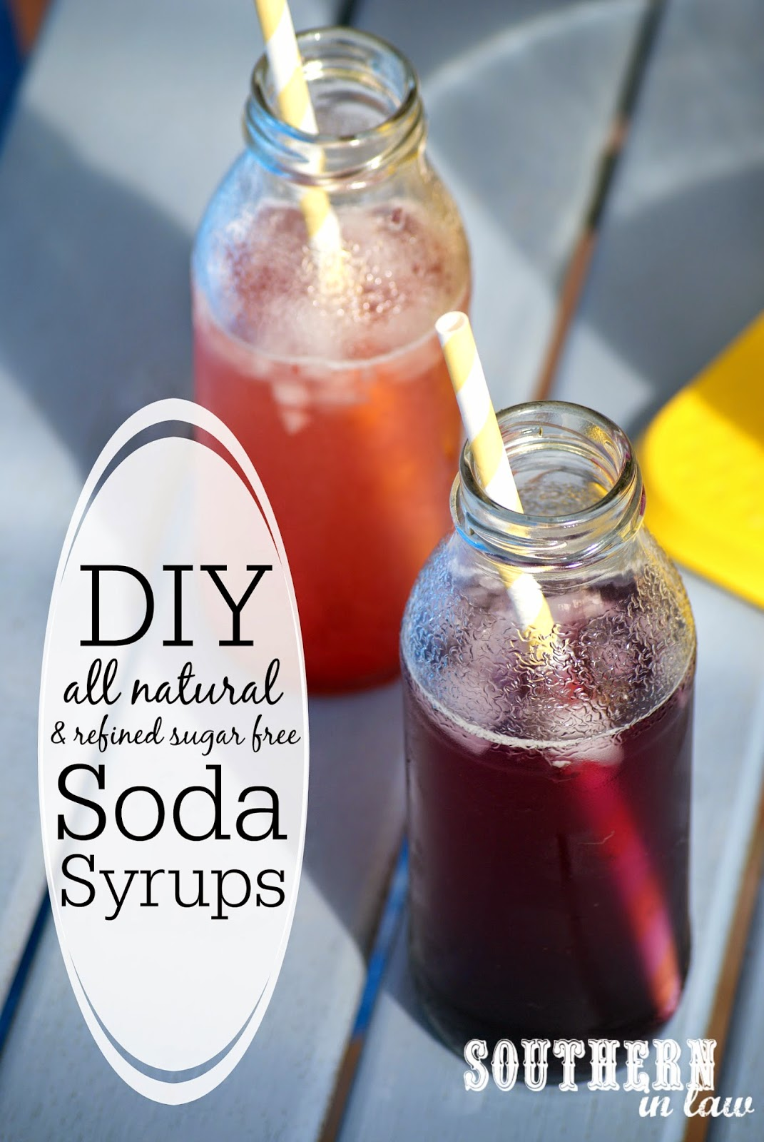 DIY Healthy SodaStream Syrup Recipe - low fat, gluten free, sugar free, all natural