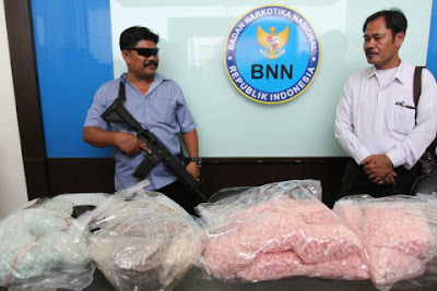Meth bust by Indonesia's BNN