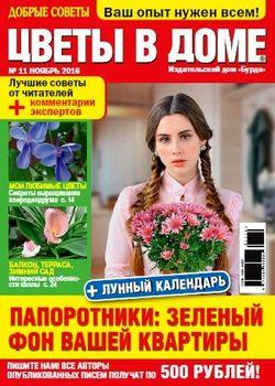 Читать онлайн журнал<br>Цветы в доме (№11 ноябрь 2016)<br>или скачать журнал бесплатно
