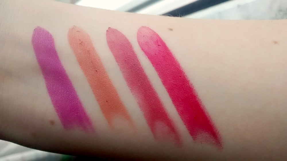 Saturated Colour Lipstick Swatches