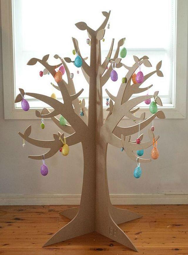 árbol navidad de cartón