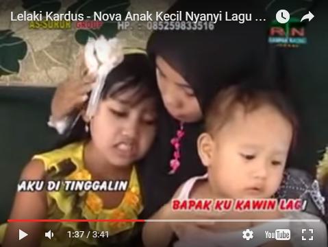 Nova Anak Kecil Nyanyi Lagu orang dewasa