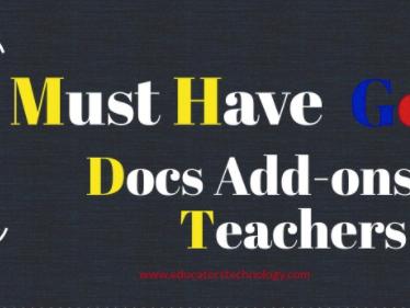7 Good Docs Add-ons Ideal for Teachers