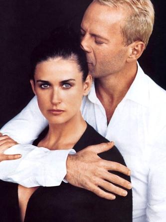 Foto de Demi Moore más joven con Bruce Willis