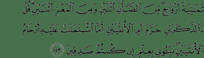 Surat Al-An'am Ayat 143