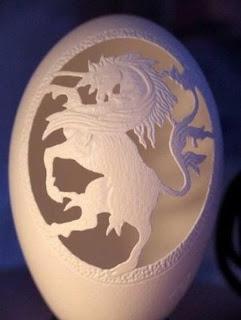Huevo decorado con un un Unicornio.