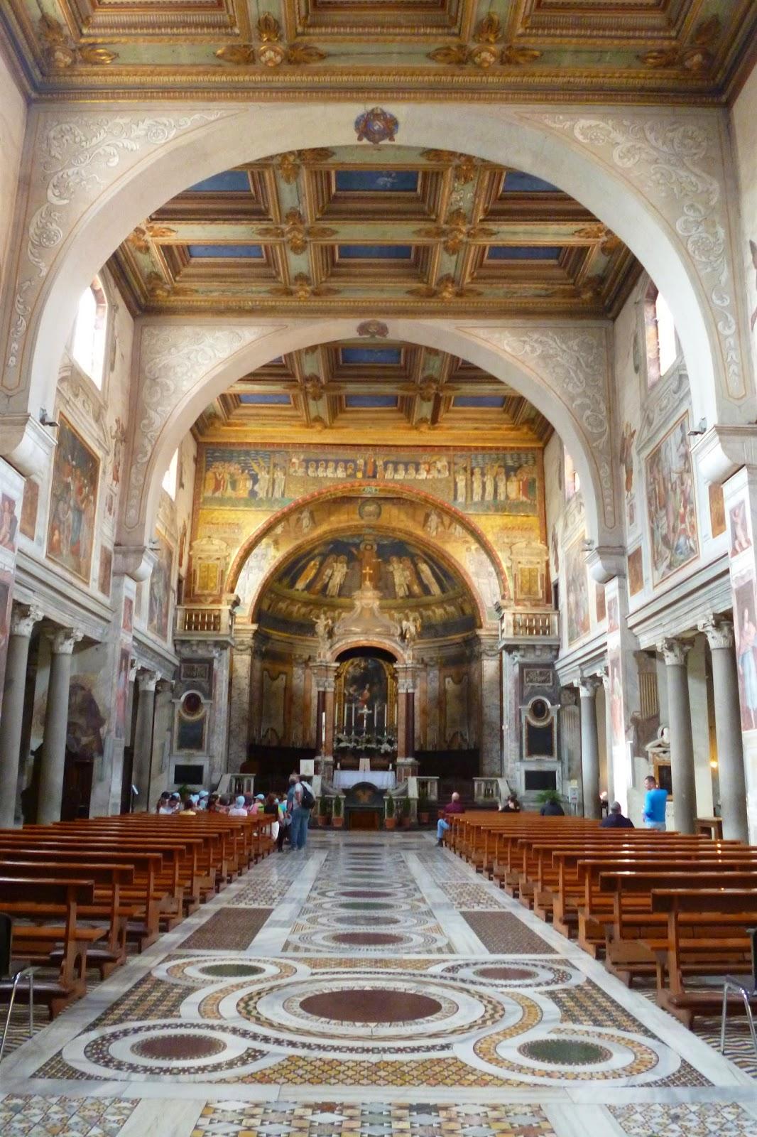 Basilica Santa Prassede nave - Basílica de Santa Prassede
