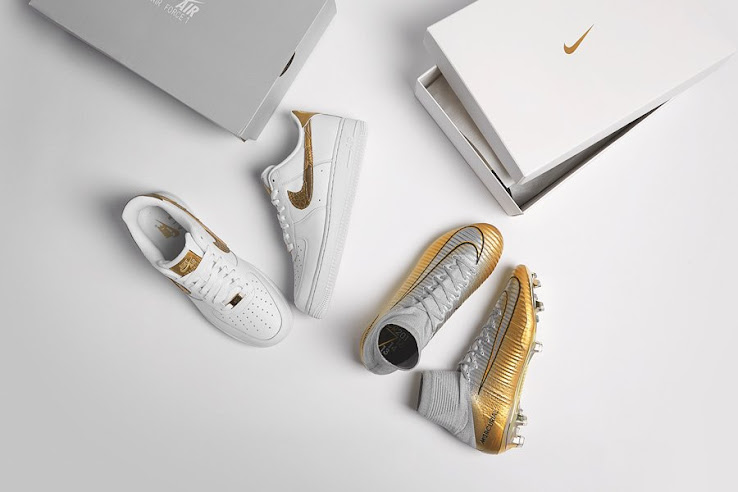 c60eb7a3e91 Release Tomorrow  Nike Air Force 1 CR7  Golden Patchwork  Sneaker Revealed  - Footy Headlines