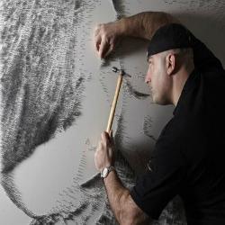 A incrível arte com pregos de Marcus Levine