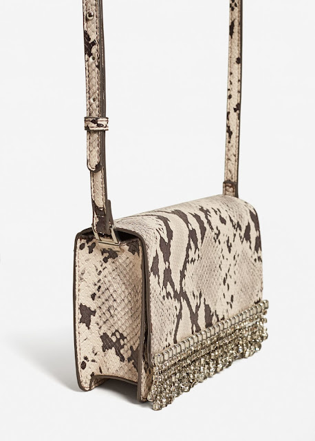 snakeskin bag with beads