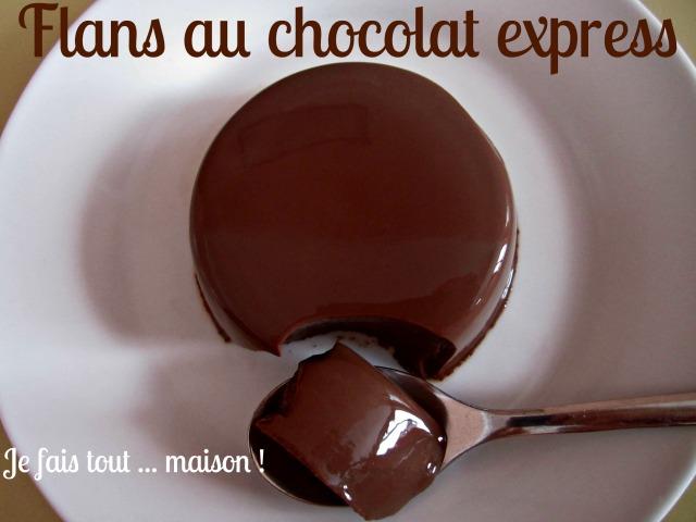 Flans au chocolat express