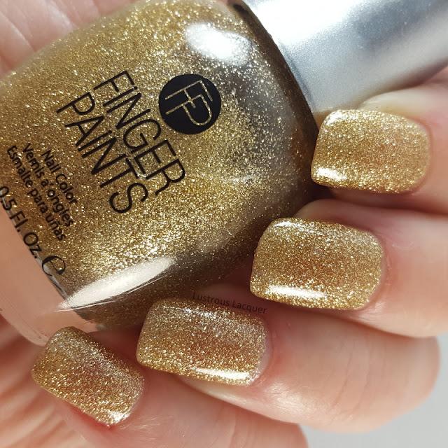 Gold-micro-glitter-nail-polish