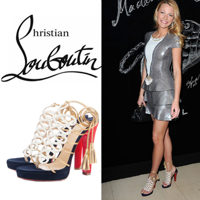 675d01a935d ... closeout blake lively in the charming christian louboutin salsbourg  sandals multi 9ff9d 91234