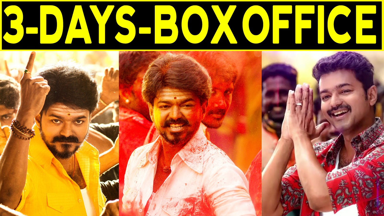 Pakka tv: Mersal 3 days World Wide Box Office Collection