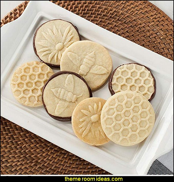 Nordic Ware Honeybee Cast Cookie Stamps, Metallic  bee themed party - bumble bee decorations - Bumble Bee Party Supplies - bumble bee themed party - Pooh themed birthday party - spring themed party - bee themed party decorations - bee themed table decorations - winnie the pooh party decorations - Bumblebee Balloon -  bumble bee costumes