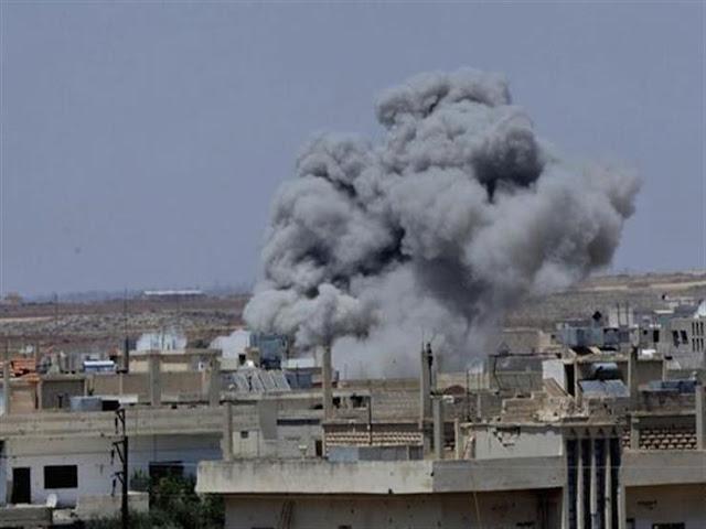 شهداء وجرحى جراء اعتداء المجموعات الإرهابية بالقذائف على أحياء سكنية بدرعا