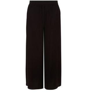 czarne spodnie culotte l rozkloszowane spodnie l culottes