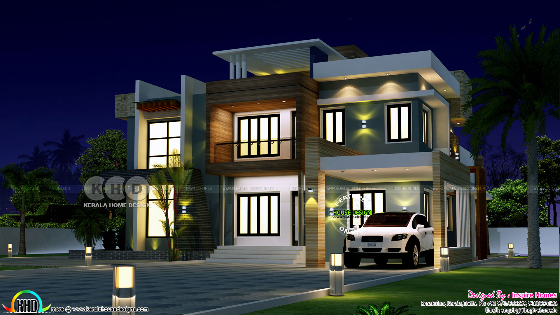ultra modern house plan with estimated construction cost kerala home design and floor plans. Black Bedroom Furniture Sets. Home Design Ideas
