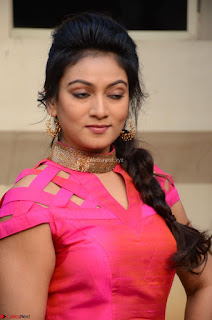Ashmita in Pink Top At Om Namo Venkatesaya Press MeetAt Om Namo Venkatesaya Press Meet (22).JPG