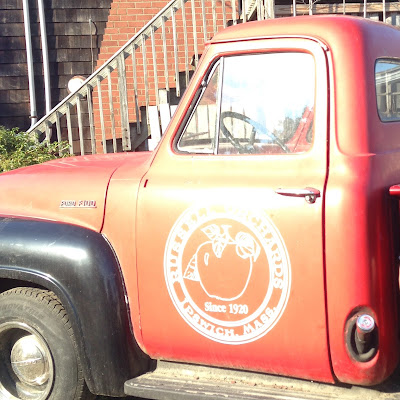 Old Fashioned Pick-Up Truck at Russel Orchards in Ipswich, MA
