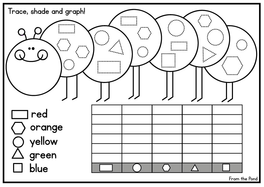 Keeping My Little Butterfly Busy – Kindergarten Graphing Worksheet