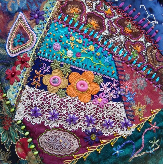 Stitching Always Crazy Quilt Jewel Tones