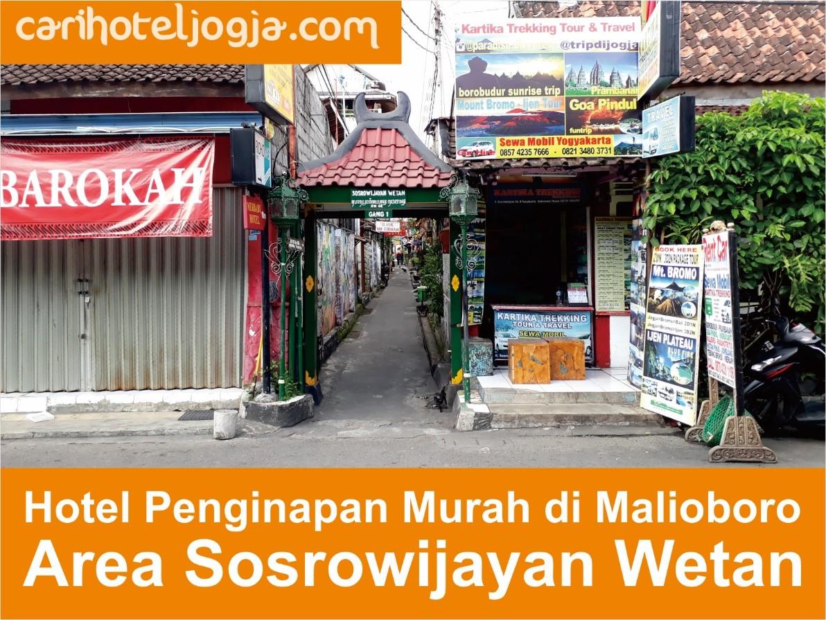Berikut Beberapa Hotel Di Gang Sosrowijayan Wetan I