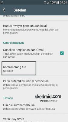 Kontrol orang tua Play Store Android