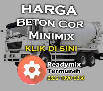 HARGA BETON COR MINIMIX 2018