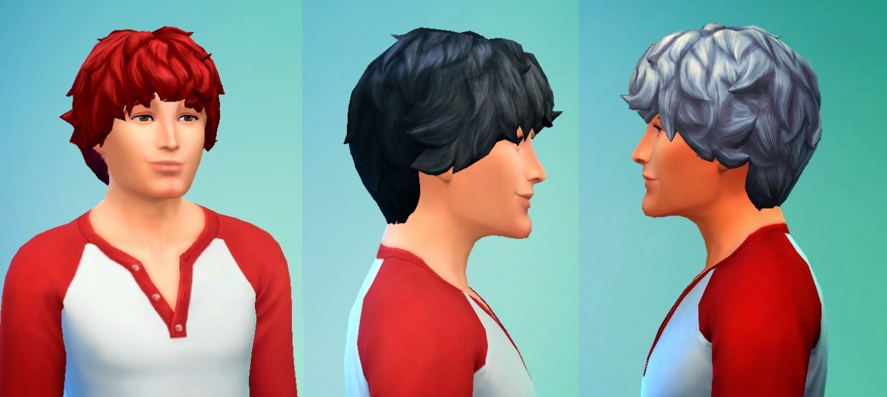 My Sims 4 Blog Kiara Zurk Modified Curly Hair For Males