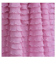 Baby Pink Ruffle Shower Curtain