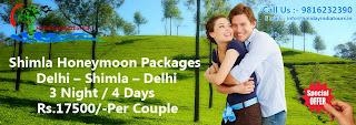 Honeymoon Packages, Shimla Honeymoon Packages
