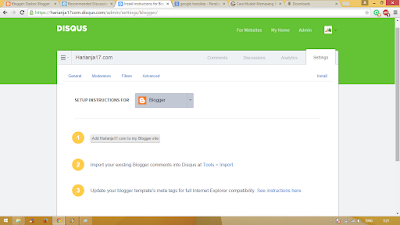 Cara Memasang Widget Disqus Ke Blog 5