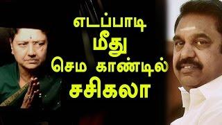 Sasikala asked TTV dinakaran about Edappadi Palanisamy