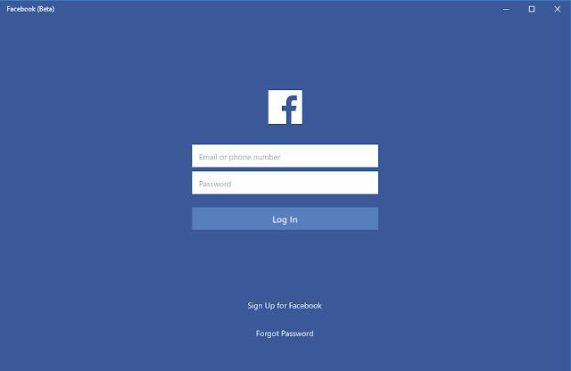 Facebook (Beta) phiên bản trải nghiệm cho Windows 10