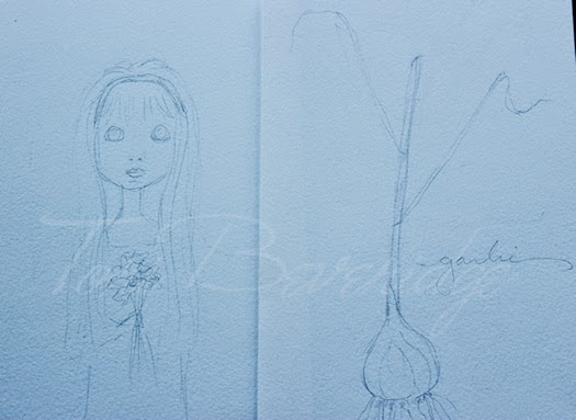 Girl and Garlic Sketches