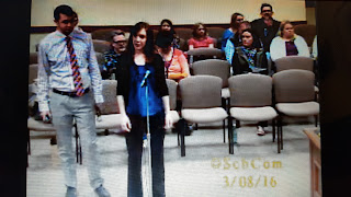 screen capture of the ASMS teachers introducing their students