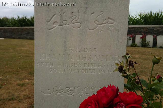Khan Muhammad - Bedford Cemetery, Ypres, Belgium