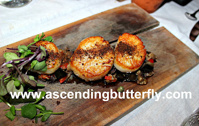 Terrain (an URBN INC shop), Terrain Cafe, Brandywine Valley, Pennsylvania, #BVFoodie, Scallops served on Cedar Plank