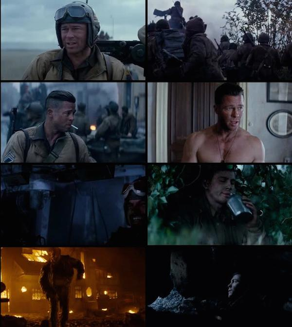 Fury 2014 Dual Audio Hindi BluRay 480p
