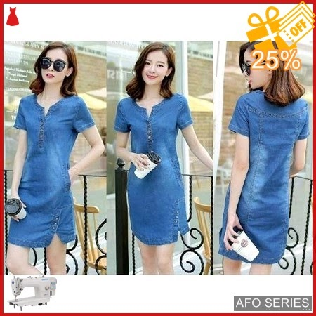 AFO649 Model Fashion Dress Tika Denim LD 96P Murah BMGShop
