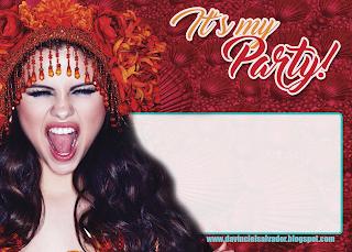 Invitaciones de Cumpleaños Gratis de Selena Gomez