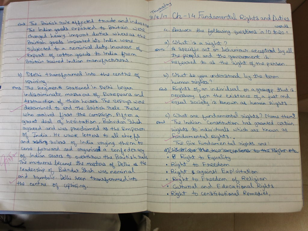 civics fundamental rights and duties notebook workbook