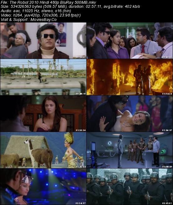 The Robot 2010 Hindi 480p BluRay 500MB worldfree4u