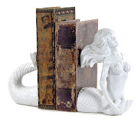 Ceramic Mermaid Bookends - Gift Ideas for Bookworms and Book Lover Gift Guide